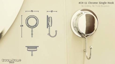 CH11 ตะขอเดี่ยว รุ่น Chrome Series:   by Square Group Co.,Ltd.