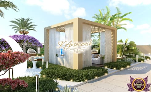 ​  Landscape design ideas of Katrina Antonovich: mediterranean Houses by Luxury Antonovich Design