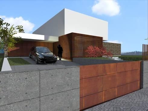 House in Lustosa: Casas modernas por MO architect