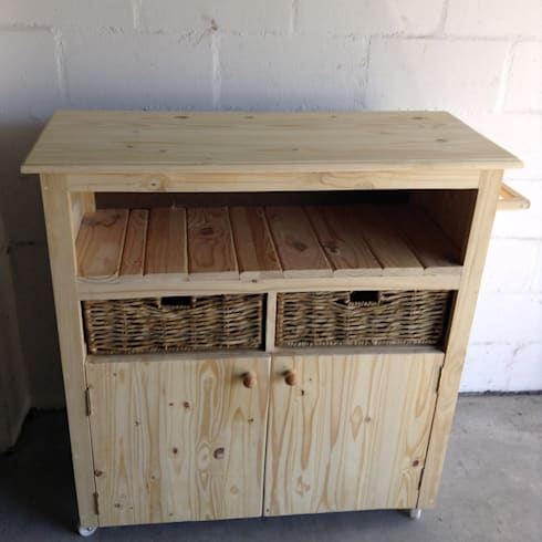Kitchen Island Unit: rustic Kitchen by Pallet Furniture Cape Town