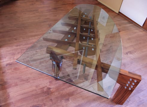 Piano Table: modern Dining room by Inline Spaces Pty Ltd