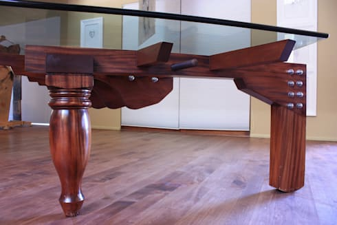 Piano Table: industrial Dining room by Inline Spaces Pty Ltd