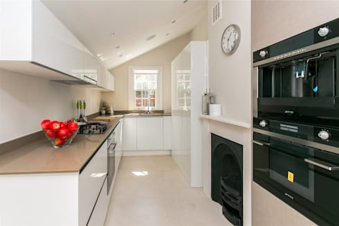 Lillieshall Road, London, SW4: modern Kitchen by APT Renovation Ltd