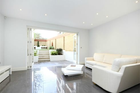 Hammersmith Grove, London, W6: modern Living room by APT Renovation Ltd