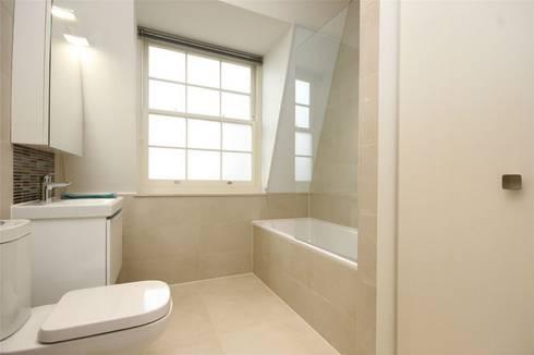 Hammersmith Grove, London, W6: modern Bathroom by APT Renovation Ltd
