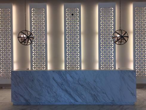 Recpecion iluminada: Pasillos y vestíbulos de estilo  por Ecologik