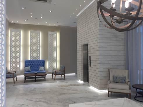 Sala de espera: Pasillos y vestíbulos de estilo  por Ecologik