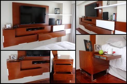 Dormitorio Matrimonial: Dormitorios de estilo  por A3 Interiors