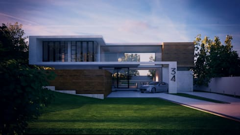 Front View: modern Houses by Eclipse Architects