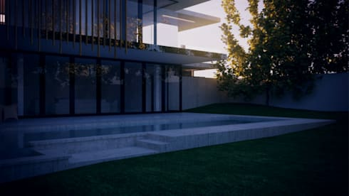 Rear View: modern Houses by Eclipse Architects