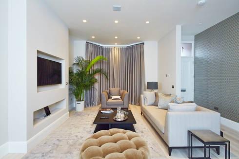 Wolverton Gardens, W6: modern Living room by APT Renovation Ltd