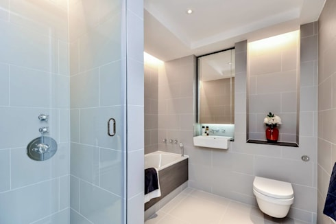 Sulivan Road, Hurlingham, SW6: modern Bathroom by APT Renovation Ltd