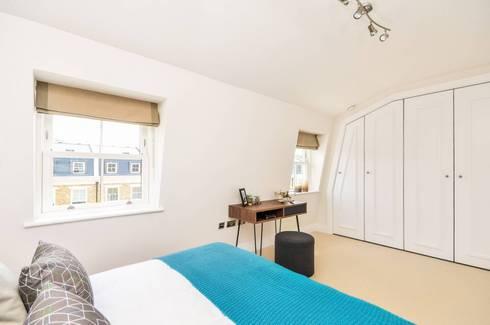 Sulivan Road, Hurlingham, SW6: modern Bedroom by APT Renovation Ltd