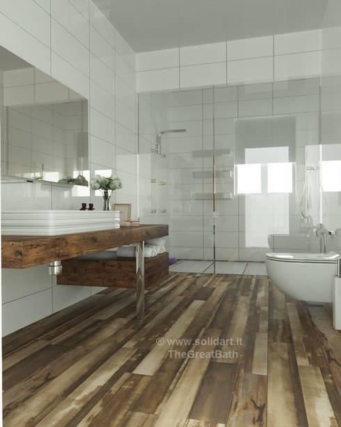 modern Bathroom by SolidART Digital Architecture