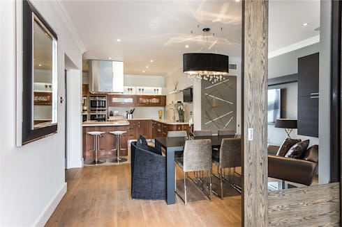 The Icon, Grosvenor Road, London, SW1V: modern Kitchen by APT Renovation Ltd
