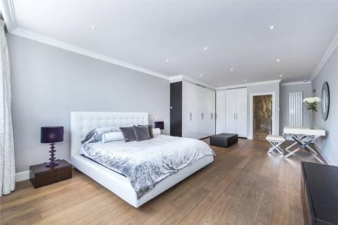 The Icon, Grosvenor Road, London, SW1V: modern Bedroom by APT Renovation Ltd