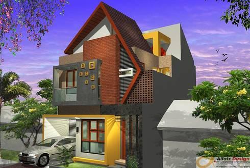 Eksterior Rumah:  Rumah by Alfaiz Design