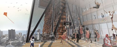 Outdoor sport space:  Commercial Spaces by A4AC Architects