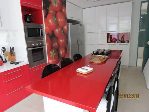 Proyecto Cocina Completa : Cocinas de estilo moderno por Muebles Menard