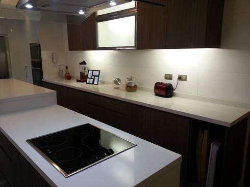 Proyecto Cocina : Cocinas de estilo moderno por Muebles Menard