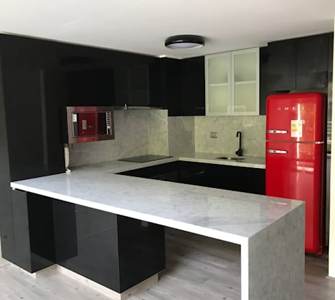 Proyecto cocina providencia de muebles menard homify for Proyecto muebles de cocina