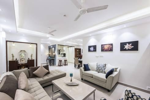 modern Living room by Nandita Manwani