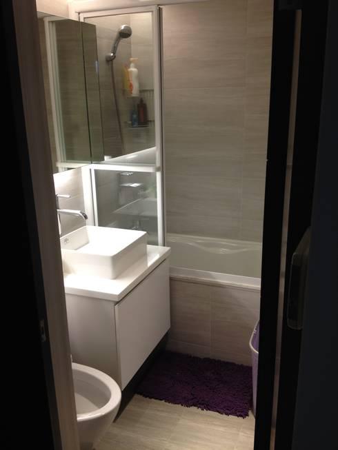 藝術品展示宅 13坪充分展現藝術品味:  浴室 by 捷士空間設計