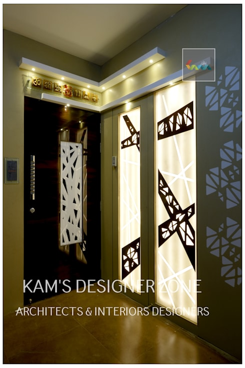 Home interior Design for Manish Thakkar: modern Houses by KAM'S DESIGNER ZONE