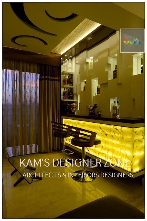 Home interior Design for Manish Thakkar: modern Wine cellar by KAM'S DESIGNER ZONE