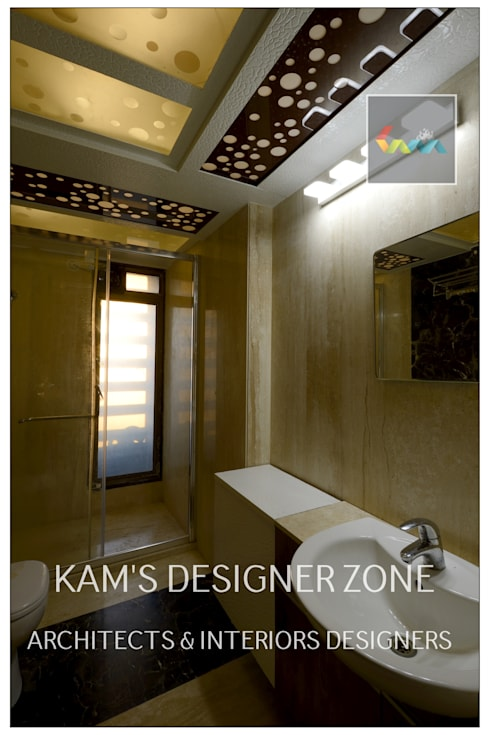 Home interior Design for Manish Thakkar: modern Bathroom by KAM'S DESIGNER ZONE
