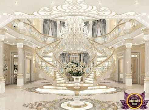 ​  Perfect interior design of Katrina Antonovich:  Corridor & hallway by Luxury Antonovich Design
