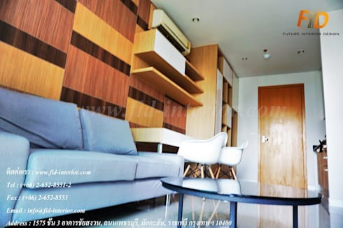 CIRCLE 1 (STYLE CONTEMPORARY & LOFT):  ตกแต่งภายใน by Future Interior Design Co.,Ltd.