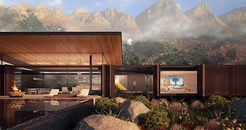Camps Bay Home: modern Houses by Kunst Architecture & Interiors