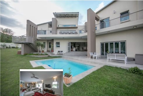 Private Residence, Helderfontein Estate, Fourways, South Africa: modern Houses by Gelding Construction Company  (PTY) Ltd