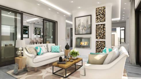 Constantia Development: modern Living room by Modo