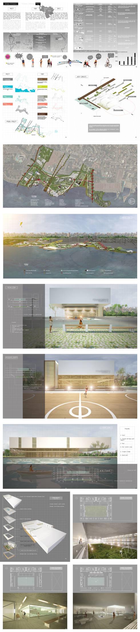 Filtros Urbanos\Polideportivo Vereda 2: Jardines de estilo minimalista por Gloriana Rada