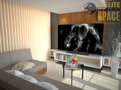 Pineda Residence: modern Living room by A+Elite