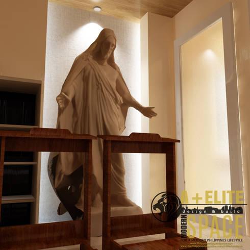 Pineda Residence:  Corridor & hallway by A+Elite
