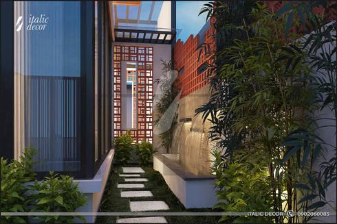 BIỆT THỰ NHÀ VƯỜN HÀ ĐÔNG:  Nhà by ITALIC DECOR