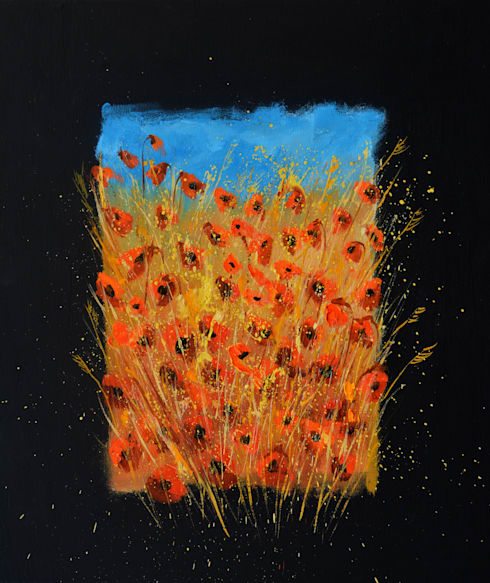 Red poppies 6771:  Artwork by Indian Art Ideas
