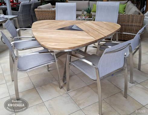 Great Dreieckiger Tisch Aus Teak Und Edelstahl Für 6 Personen Home Design Ideas