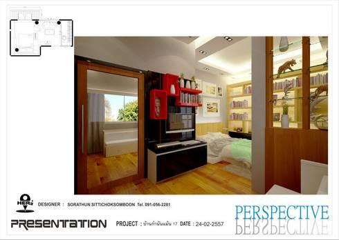 ห้องนอน 3:   by ็HERE DESIGN
