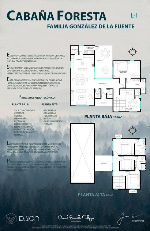 Planta se arquitectónicas : Casas de estilo rústico por De.sign