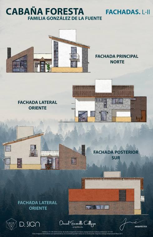 Fachadas: Casas de estilo rústico por De.sign