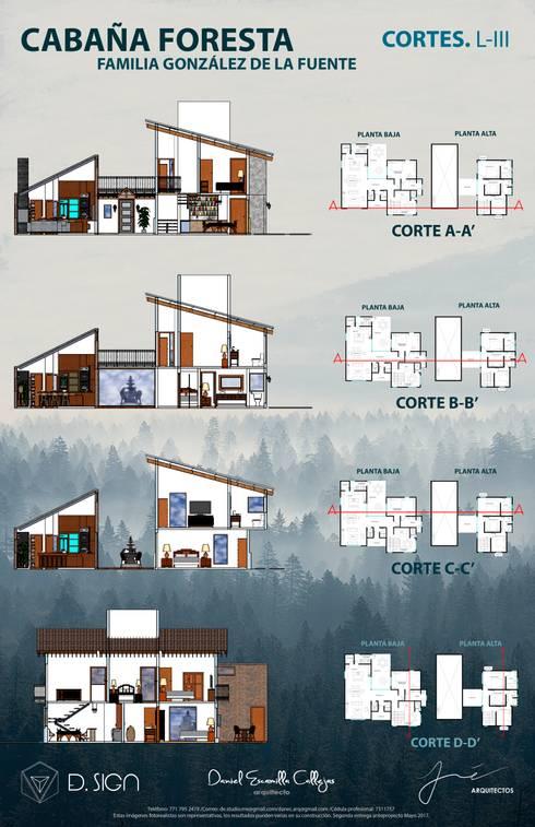 Cortés casa floresta : Casas de estilo rústico por De.sign