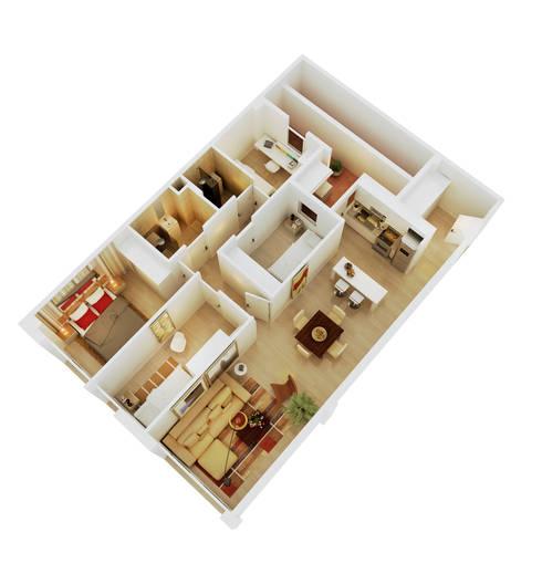 modern Living room by GokoStudio