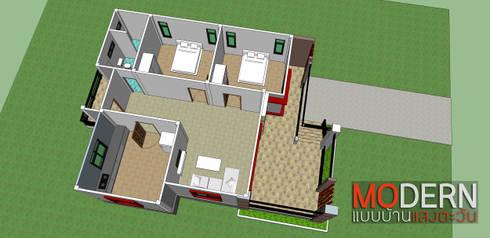 แบบบ้านสไตล์โมเดิร์น:   by Sundesign