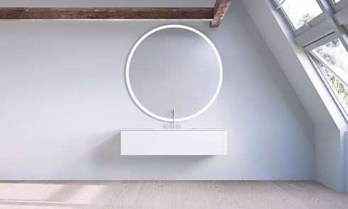 Copenhagen  Bath - SQ2 cabinet design by Mikal Harrsen: skandinavische Badezimmer von Copenhagen Bath