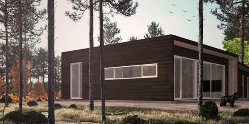 Casa Pacheco. Visualizacion 3D:  de estilo  por RENDER STUDIO