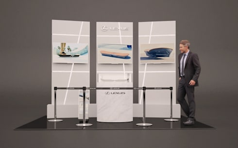 Modulo de Presentacion en Chile de LEXUS HOVERBOARD:  de estilo  por RENDER STUDIO